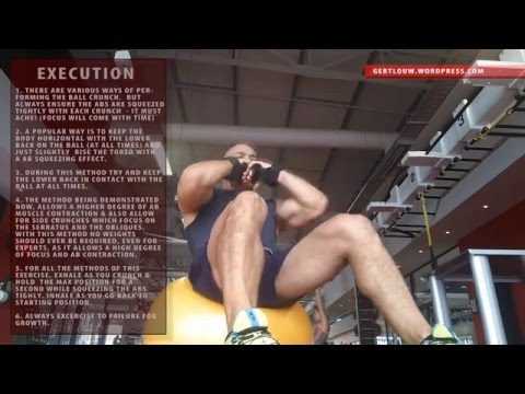 Bodybuilding 101 – exercise ball crunch