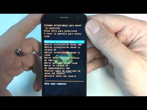 Alcatel OT Idol mini 6012 - How to reset - Como restablecer datos de fabrica