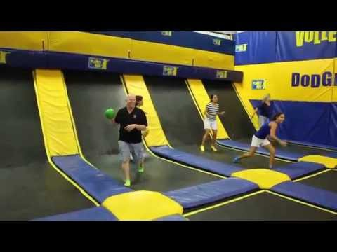 Trampoline Dodgeball - Parents vs. Children  - Planet Air Sports