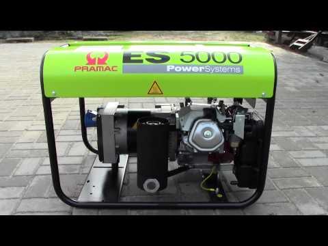 Бензинов монофазен генератор PRAMAC ES5000 #C0X2ez9JJD4