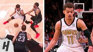 Trae Young NASTY Between The Legs Dribble | Pistons vs Hawks - February 22, 2019