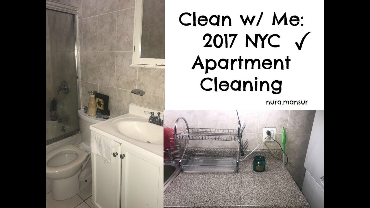 Clean with Me: Motivational 2017 NYC Apartment cleaning - YouTube