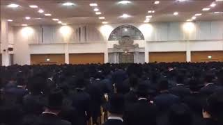 Chevron Yeshiva Saying Selichos On Motzei Shabbos