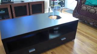 Coffee Table With Fireplace & Plant Box 2/2