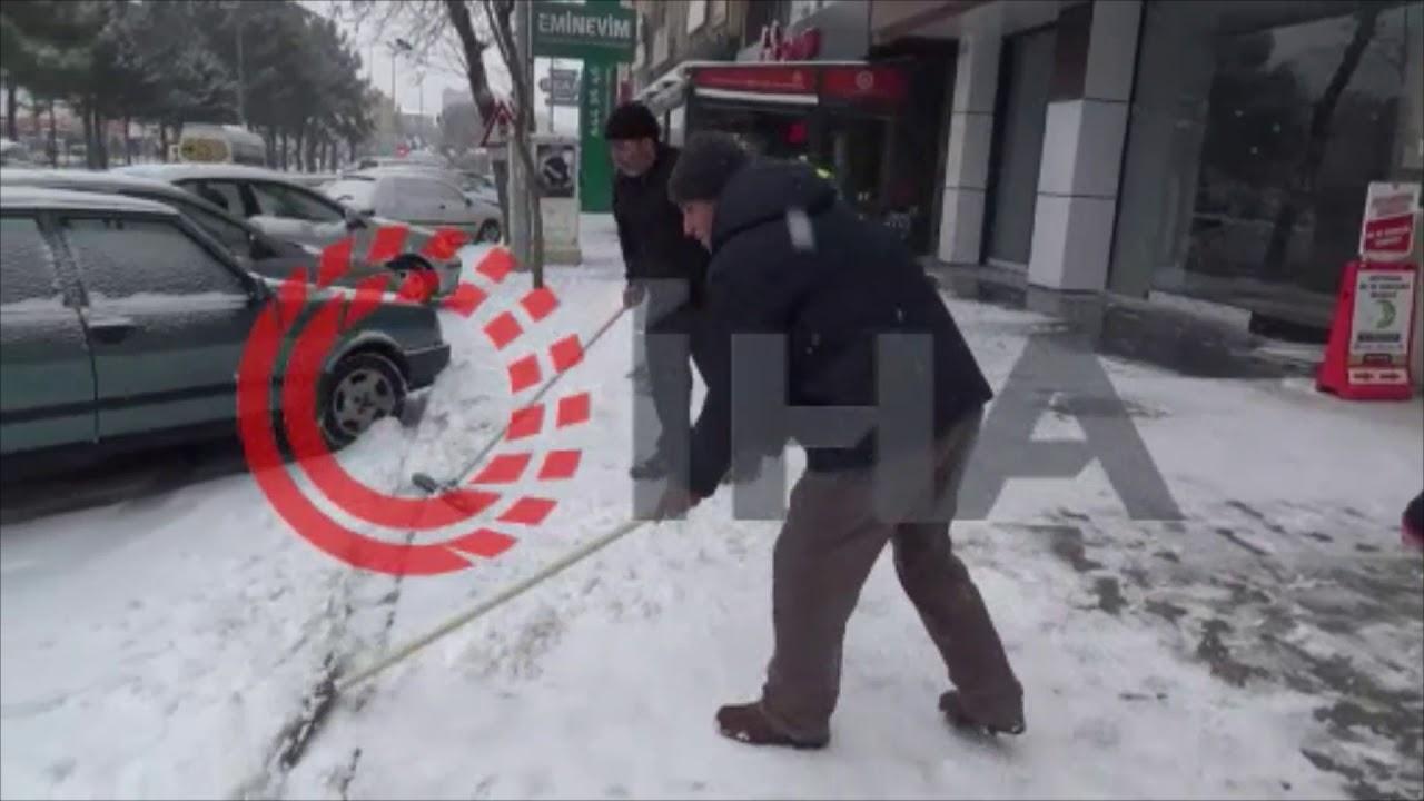 Adıyaman'da kar etkili oldu