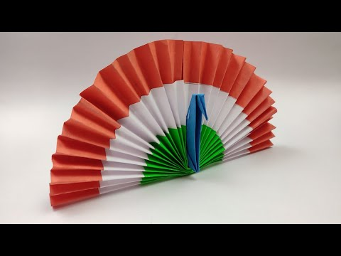 How to make Paper Peacock | Origami Peacock | Republic day Craft ideas| DIY paper crafts for kids