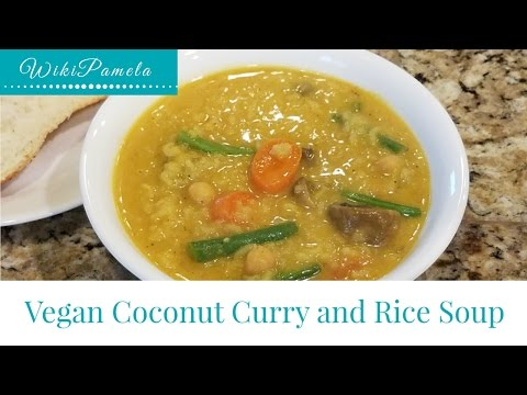 Vegan Coconut Curry And Rice Soup (Instant Pot)