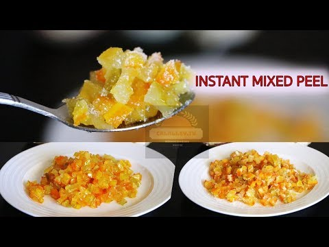 How to make mixed peel | Candied Citrus Peel | Instant