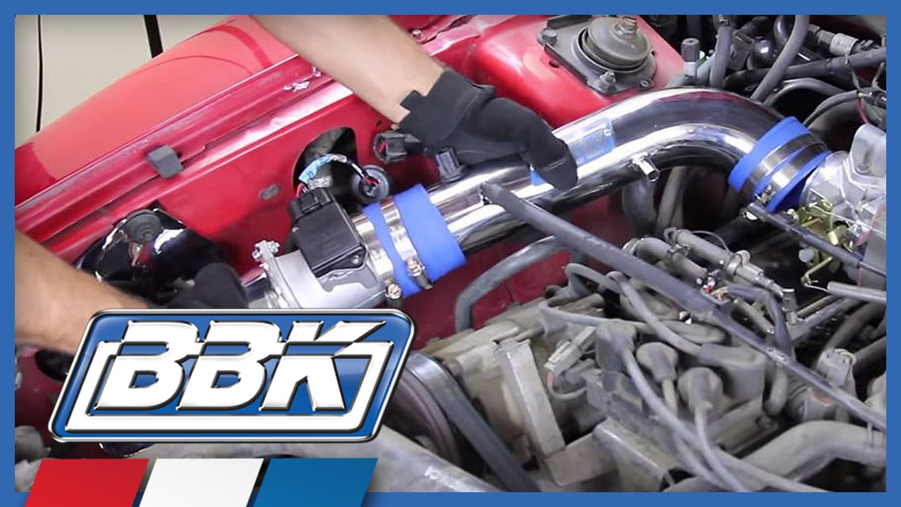 small resolution of ford mustang 3 8l v6 bbk cold air induction kit installation 1994 2004 youtube