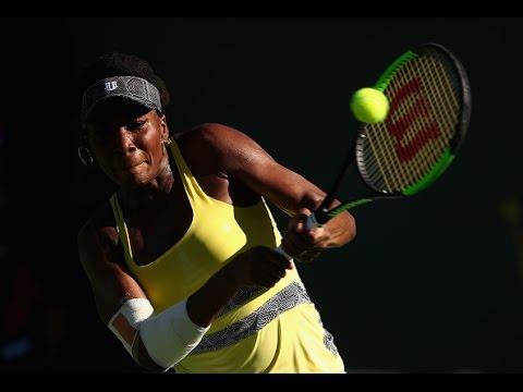 2017 BNP Paribas Open Third Round   Venus Williams vs Lucie Safarova   WTA Highlights