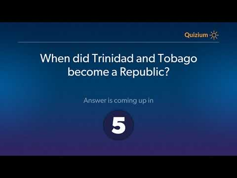 When did Trinidad and Tobago become a Republic?   Trinidad a