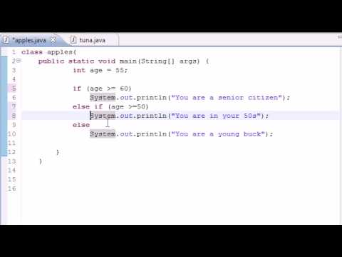 Java Programming Tutorial - 19 - else if Statement