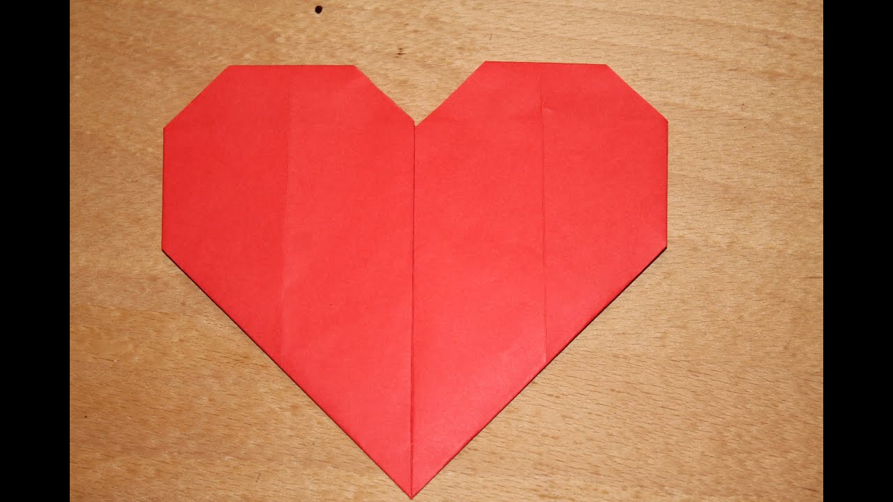 Comment Faire Coeur En Papier Youtube