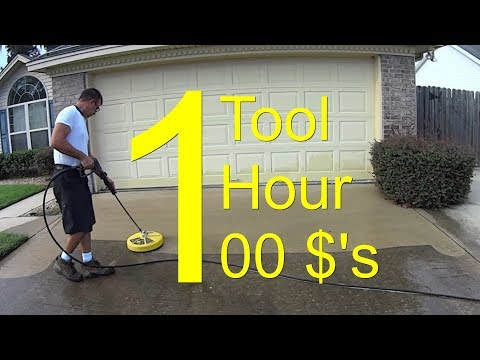 Pressure Wash a Driveway - CHEMICAL FREE - $100 an Hour