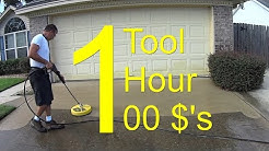 Pressure Wash a Driveway - CHEMICAL FREE - $100 an Hour