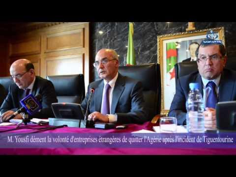 Conférence de presse de M Yousfi