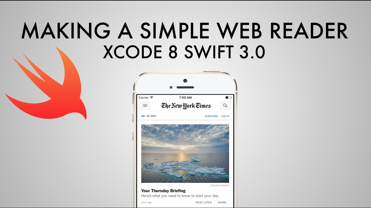 How To Create A Simple Web View In Xcode 8 (Swift 3 0)