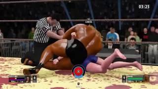 natalie bell vs brutus iron man match 18 submission beatdown 1p vs 2p dummy ryona