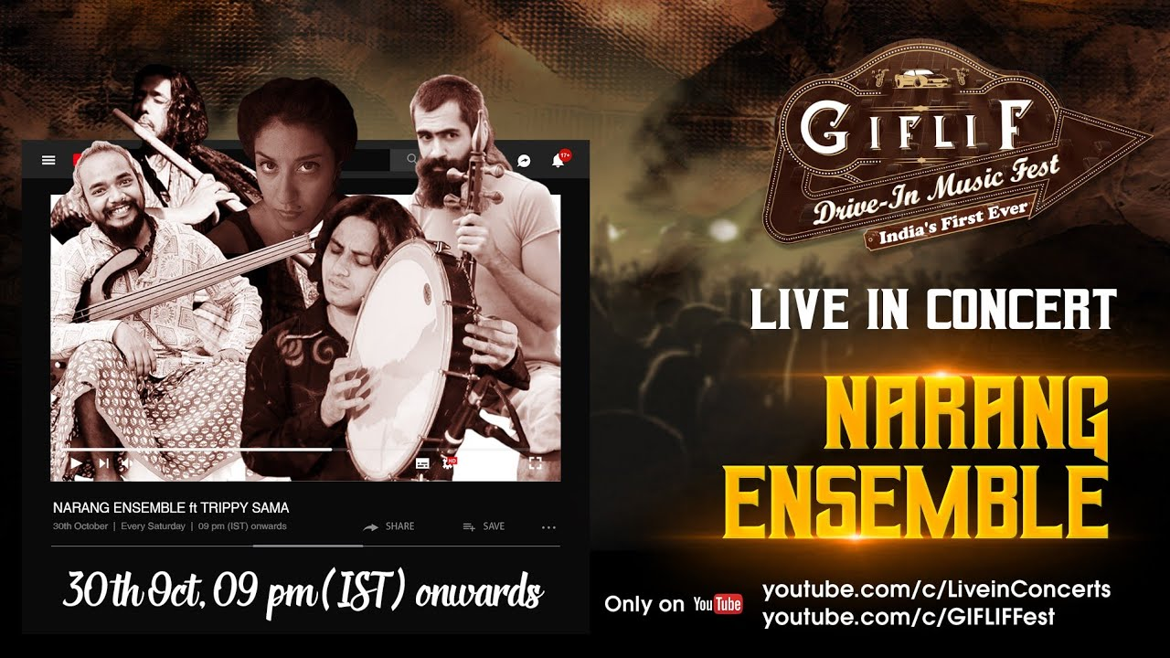 @nArang ensemble   GIFLIF Drive-In Music Fest   30th Oct  #GIFLIFLive #LiveConcert