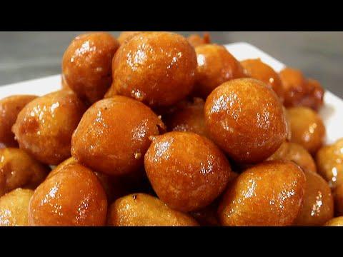 لقمة القاضي مقرمشه وهشه ( عوامات )حلويات عراقية  Loqmat El Qadi /Awamat