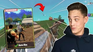 Using Auto Fire on Fortnite Mobile