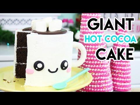 How to Make a Giant Hot Chocolate Mug Cake – HOLIDAY FOODIE COLLAB!