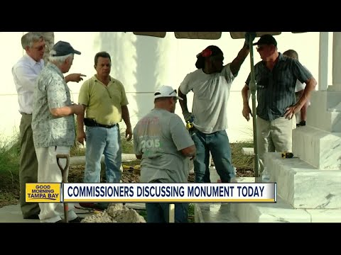 Process begins to remove Confederate statue from downtown Tampa