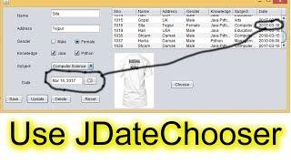 How to Use JDateChooser or JCalendar in Java