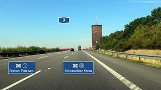 Die A 9 von (1) Dreieck Potsdam bis (15) Schkeuditzer Kreuz in Rich...