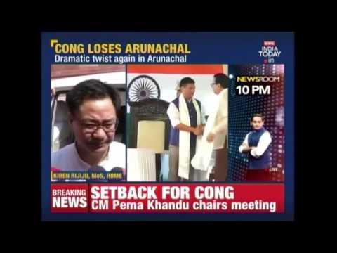 Huge Setback For Congress In Arunachal, 43 MLAs Joins People