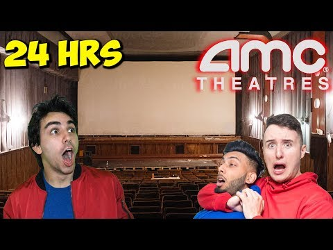 OVERNIGHT AT ABANDONED AMC MOVIE THEATRE 5 YEARS LATER!