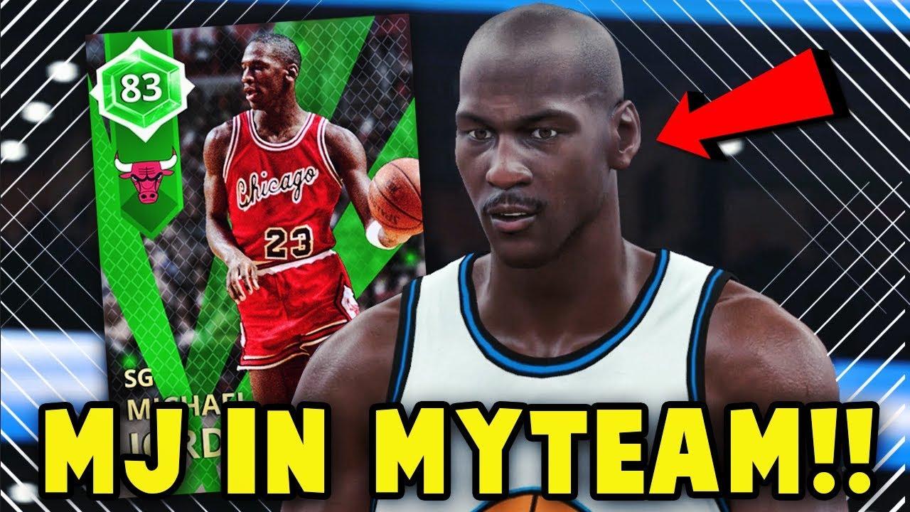NBA 2K18 MyTEAM EMERALD OPENING NIGHT MICHAEL JORDAN GAMEPLAY ... f01faf4f4