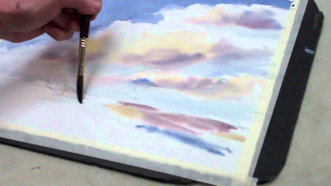 How To Paint A Watercolor Sky With Clouds The Art League School You