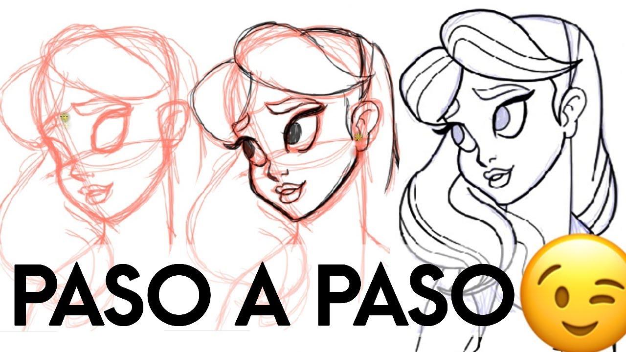 Como Dibujar Y Pintar Facil El Rostro De Una Mujer De: Como Dibujar Un Rostro Tipo Disney Explicado By Dibujo