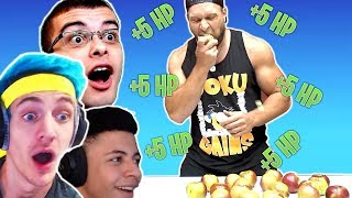 20 Apple Eating CHALLENGE | Fortnite Challenge in Real Life