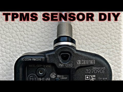 HOW TO INSTALL TPMS SENSORS ON LEXUS GSF WHEELS