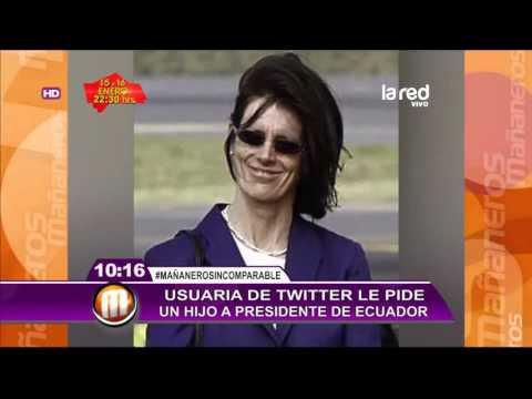 Presidente de Ecuador le responde a la mujer que le pide un hijo vía Twitter
