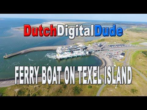 Ferry boat, Texel island, the Netherlands. Veerboot van Texel