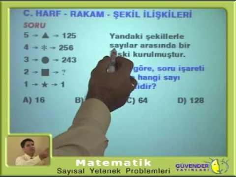 Sayısal Yetenek Problemleri - İbrahim Tokar Hoca - ankara matematik özel ders