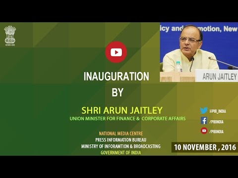 Economic Editors' Conference 2016: Inaugural Session by Finance Minister Shri Arun Jaitley