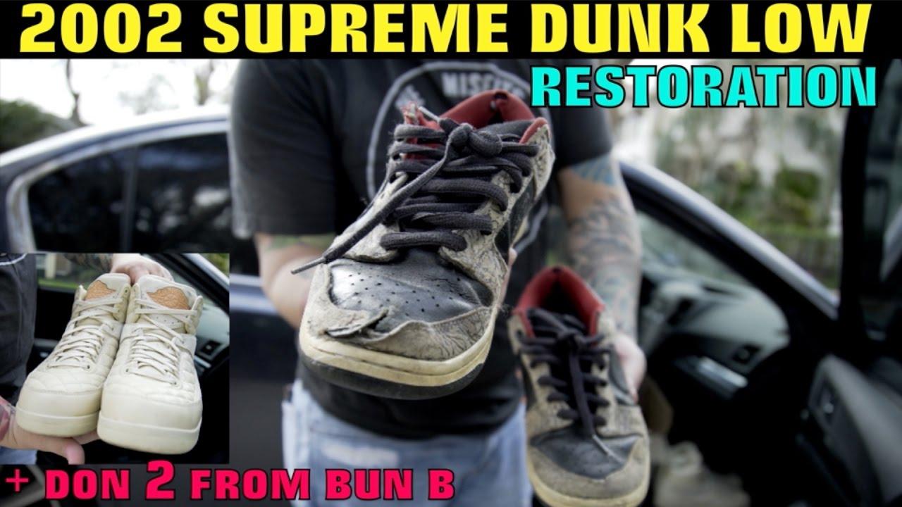 fe803d4e4d936e 2002 SUPREME NIKE DUNK LOW + DON 2 s FROM BUN B! - YouTube