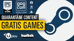 Kostenloser Quarantäne-Content | Diese Spiele bekommt ihr aktuell gratis
