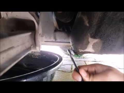 Oil drain plug leak repair  in car
