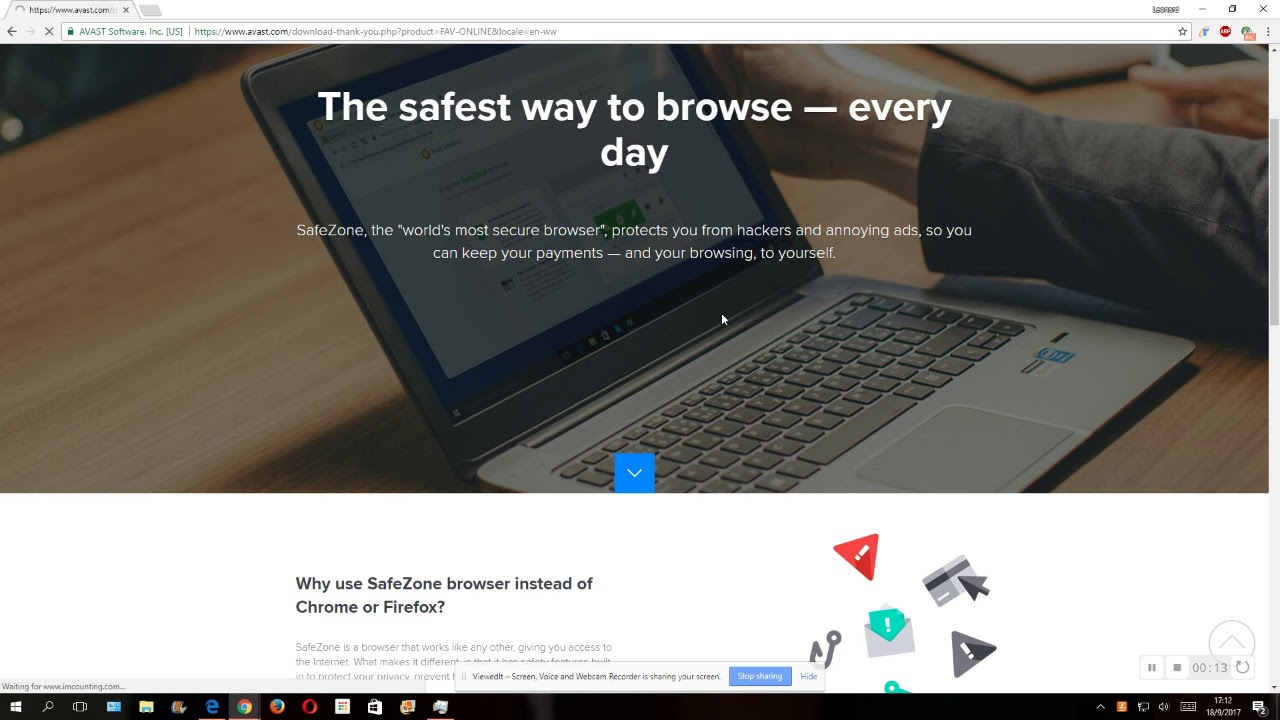 Avast Safezone Installation Request Youtube
