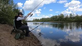 Рыбалка на реке детства Поймал пару карасей
