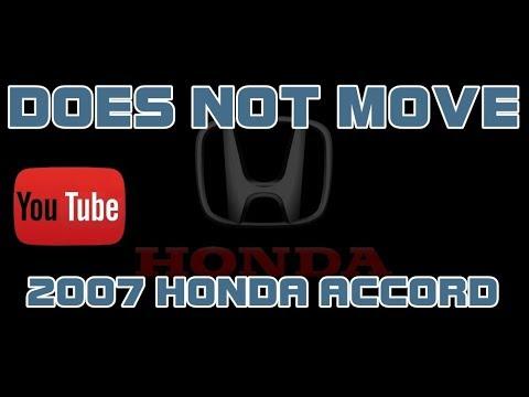 ⭐ 2007 Honda Accord - 2 4 - Does Not Move - Manual Transmission