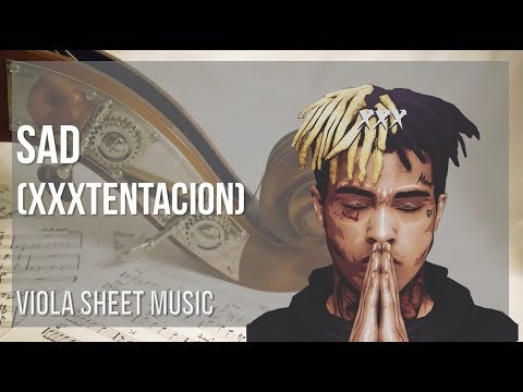 EASY Viola Sheet Music: How to play Sad by XXXTENTACION