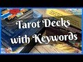 Tarot Decks with Keywords on the Cards - for both beginners and seasoned tarot readers!