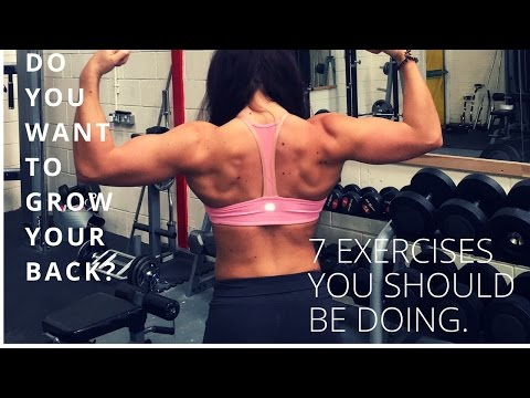Full back workout for shape
