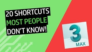 3DS MAX SHORTCUTS - Tips and Tricks Only a few people know